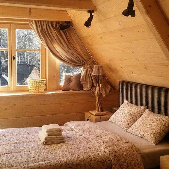 Na chatě u Pejru - takhle si představuji spaní na chatě....