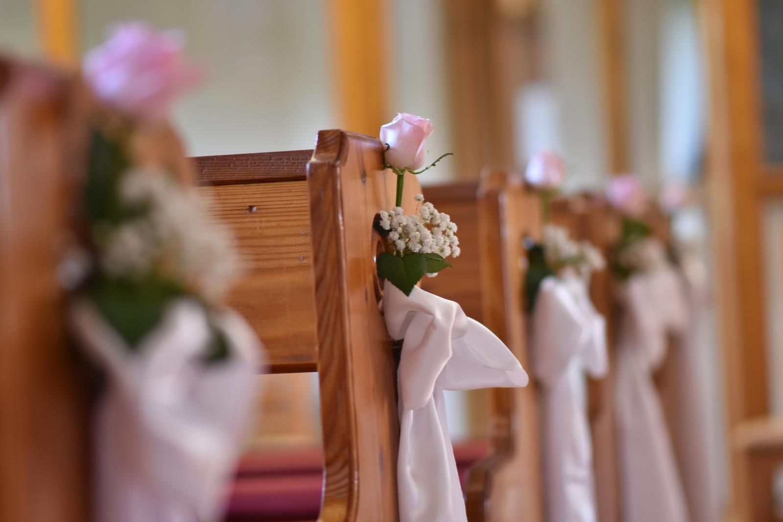 ♥ Baška{{_AND_}}Peťo ♥ - Ružové ružičky na všetkých laviciach