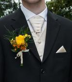 Svatební vesta - champagne, 50