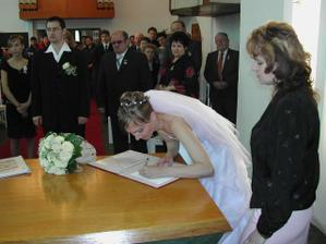 nevěstin podpis