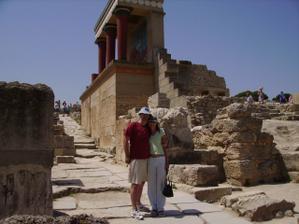 navštěva palace v Knossos