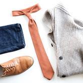 Luxusní oranžová kravata bubibubi ties