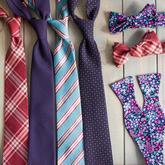 Nová kolekce kravat a motýlků.