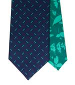 Twin kravata tmavomodrá s čárkami,