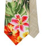 Twin kravata tropické květy,