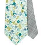 Twin kravata mint s květy,