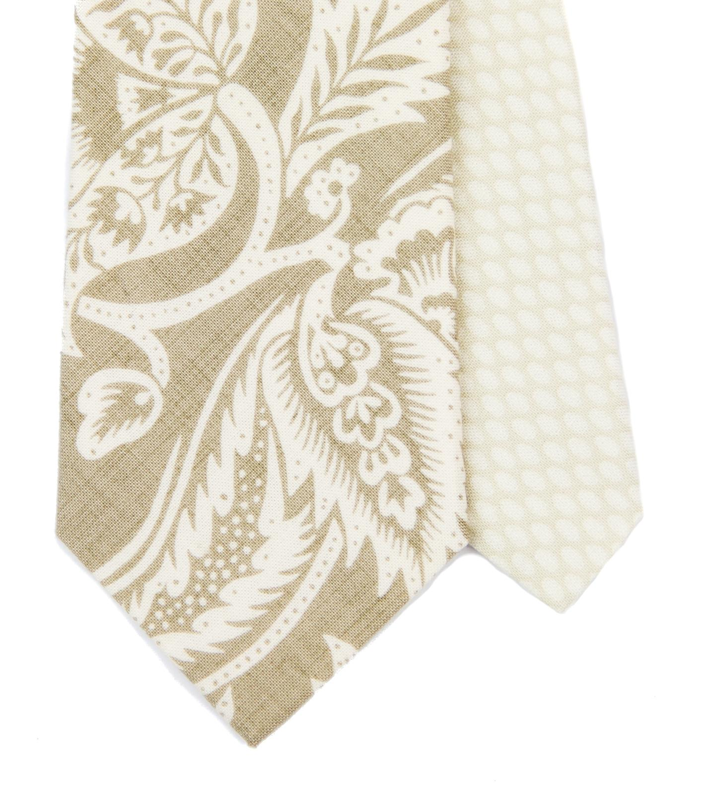 Twin kravata béžová s ornamentem - Obrázok č. 1