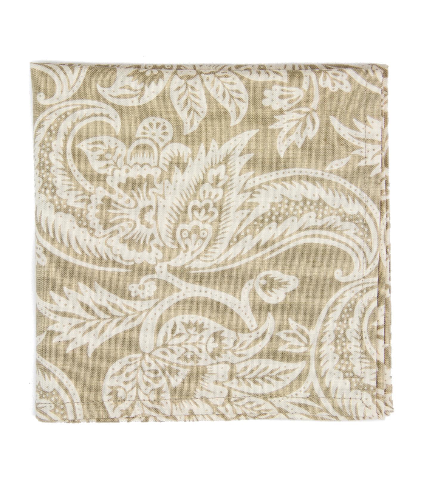 Béžový kapesníček s ornamentem - Obrázok č. 1