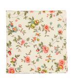 Béžový kapesníček s růžovými květy,