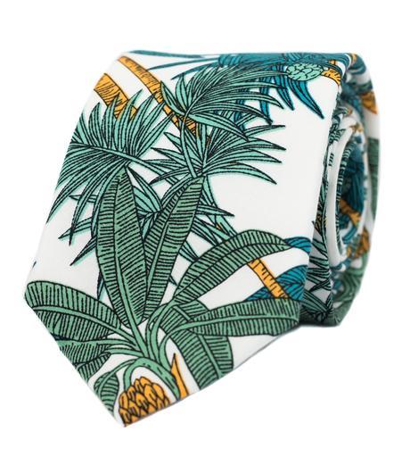 Bílá kravata s palmami - Obrázek č. 1