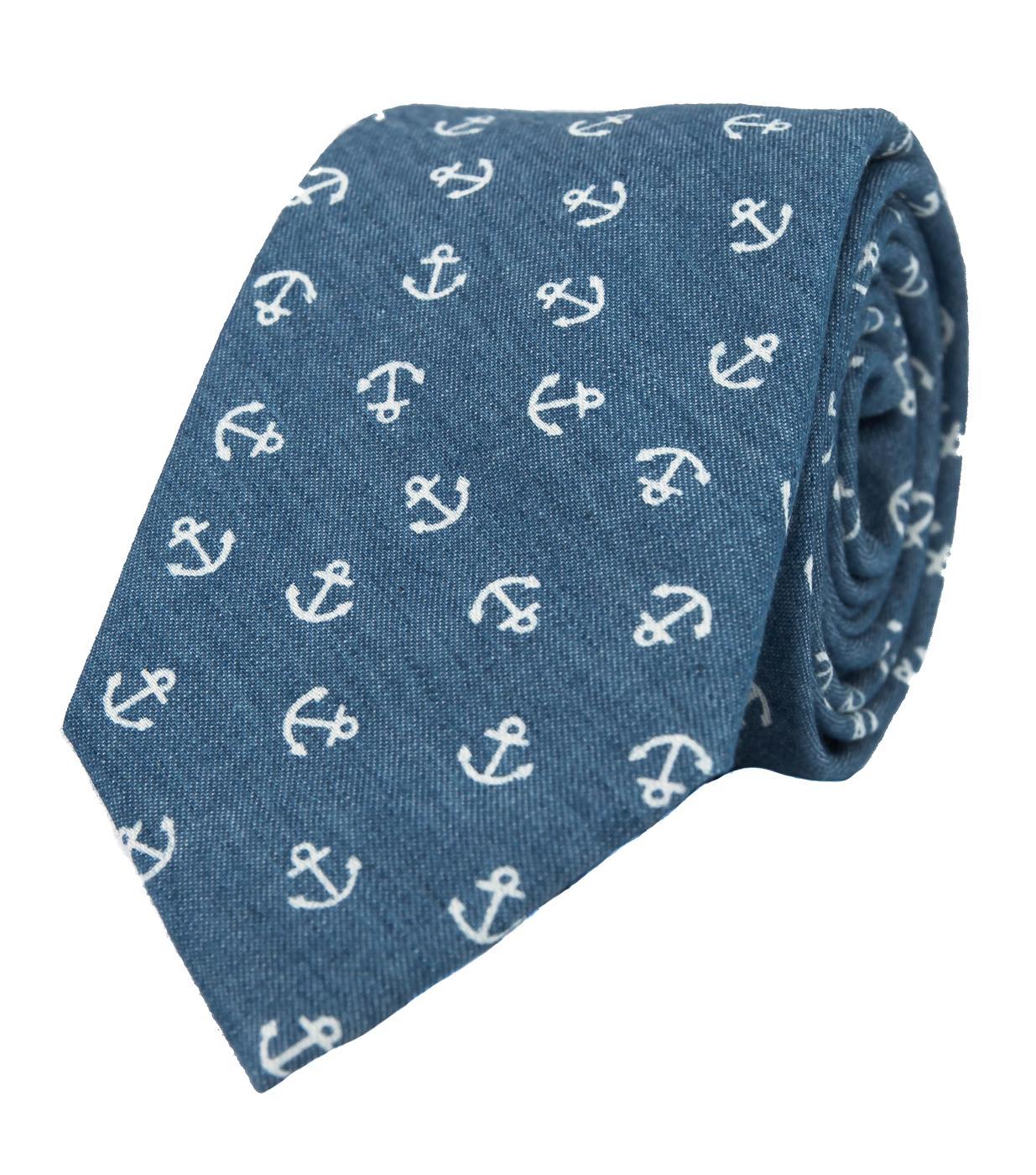 Nové svatební kravaty a motýlky - Kravata s kotvou