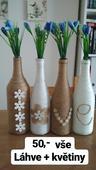 Láhve + květiny,