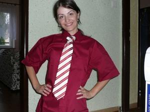 miláčkova košile s kravatou :o)