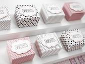 Krabičky na svatební mandličky či jiné dárečky,