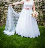 Svadobné šaty 42 - 46, 44