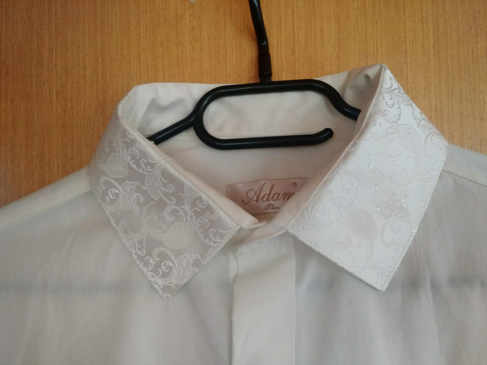 Svadobná košeľa farba ivory, veľ. 40 - Obrázok č. 1