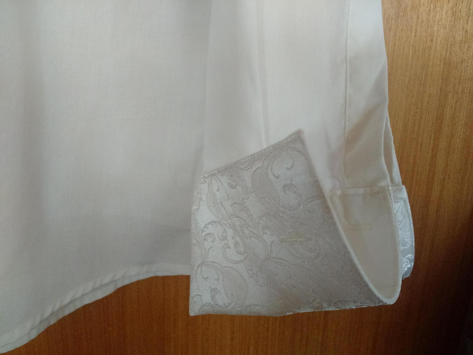 Svadobná košeľa farba ivory, veľ. 40 - Obrázok č. 2