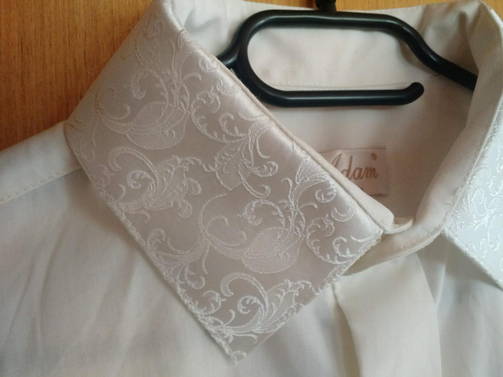 Svadobná košeľa farba ivory, veľ. 40 - Obrázok č. 3