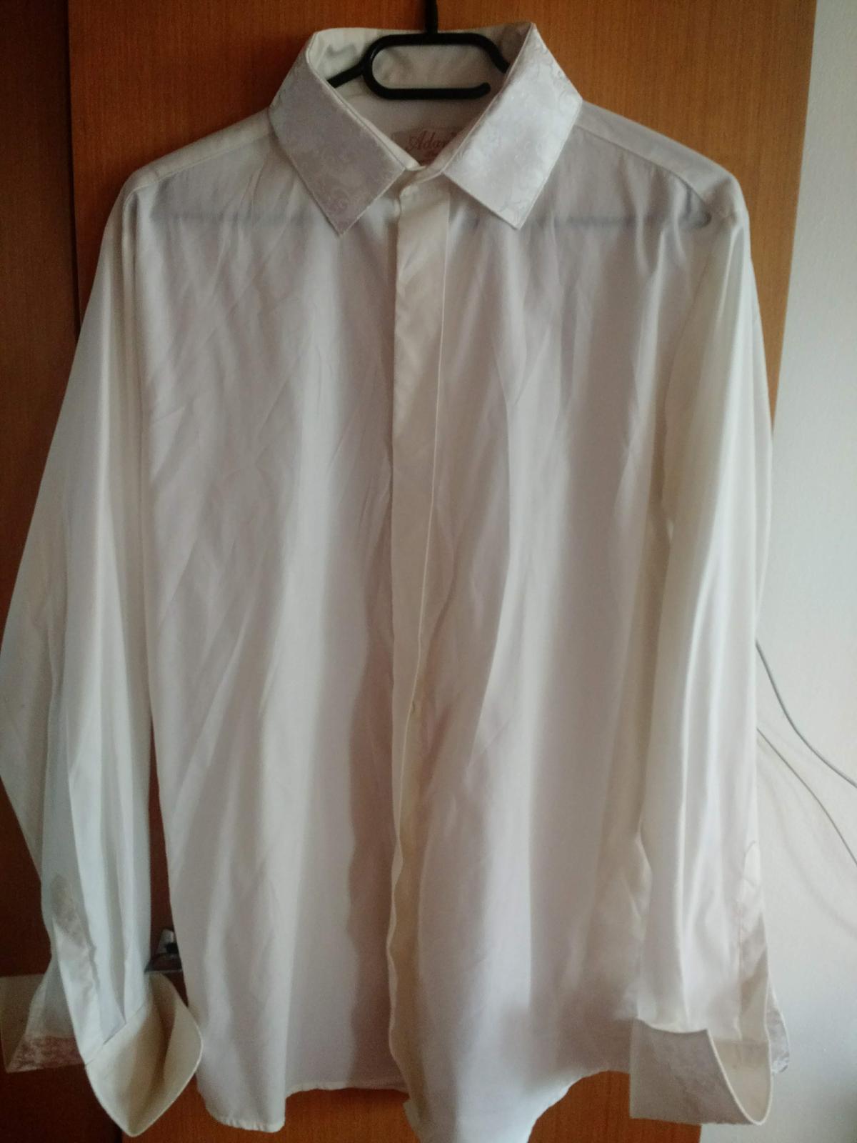 Svadobná košeľa farba ivory, veľ. 40 - Obrázok č. 4