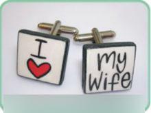 manžetové gombíky I love my wife