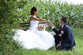 Svatební šaty vel. 36-38, střih mořská panna, 36