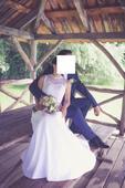 Svatební šaty pro menší nevěstu vel.36,38, 38