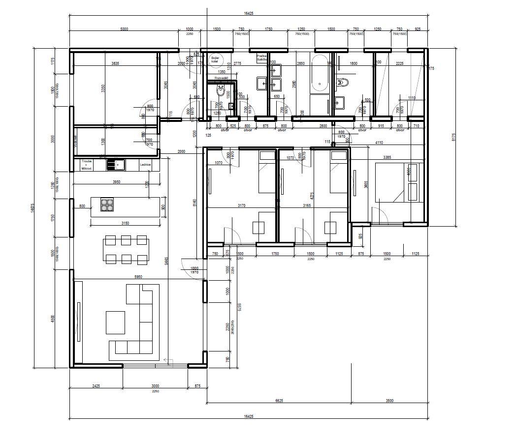 Bungalov s plochou střechou - Obrázek č. 3