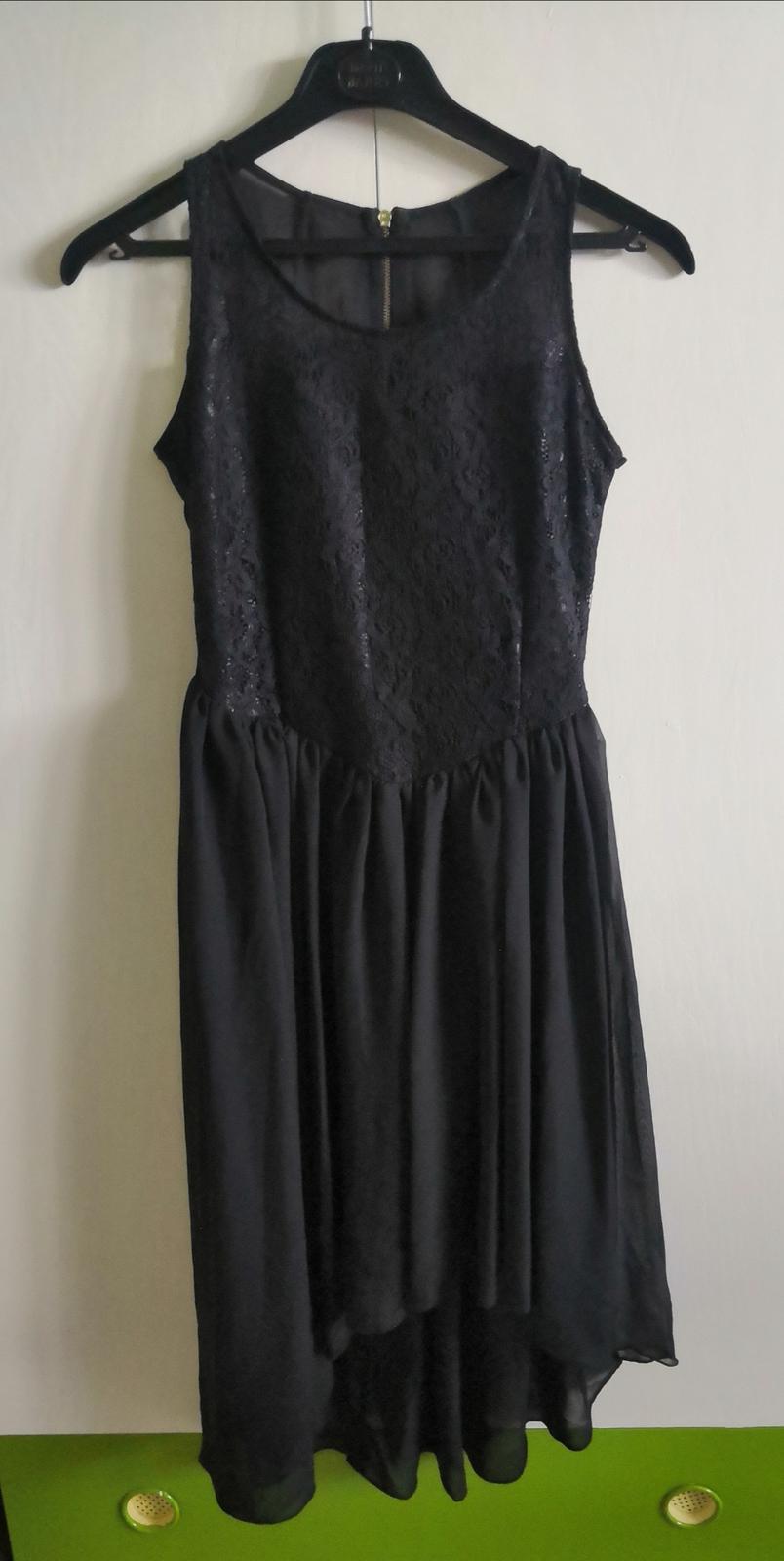 Čierne šaty s čipkou - Obrázok č. 1