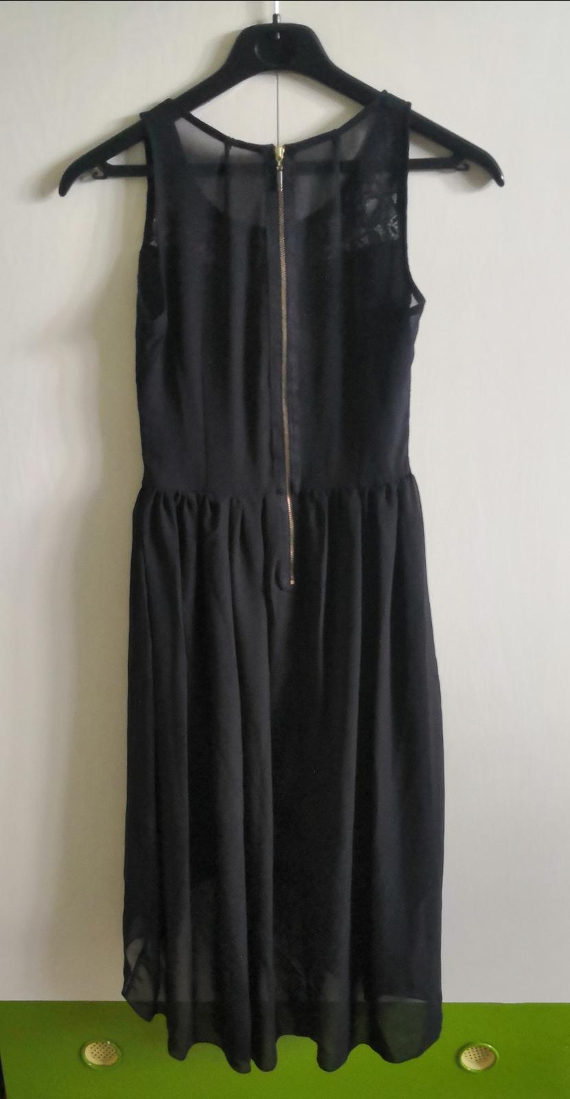 Čierne šaty s čipkou - Obrázok č. 2