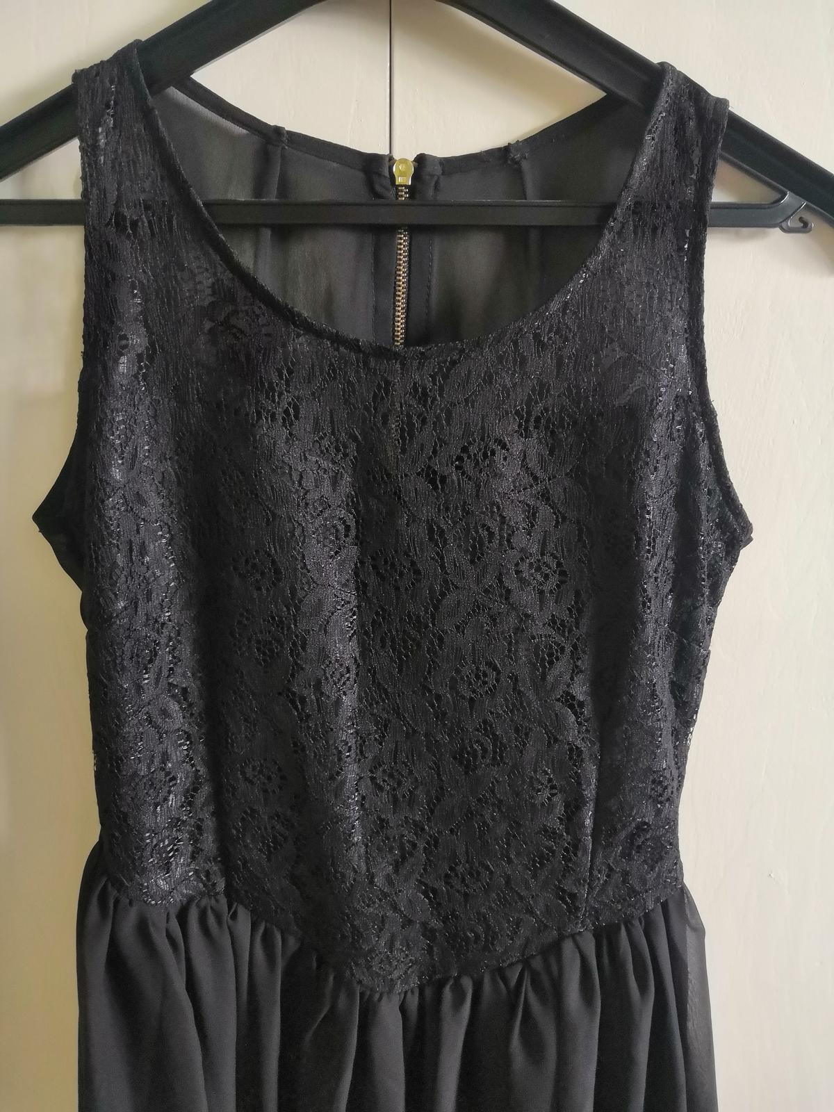 Čierne šaty s čipkou - Obrázok č. 4