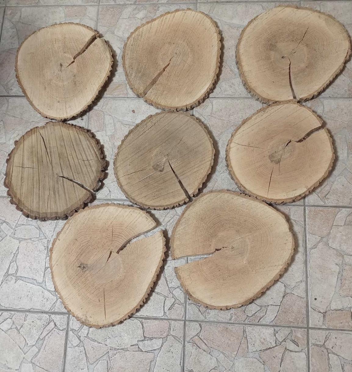 Dřevěné kulatiny / podnosy, průměr cca 30-32 cm - Obrázek č. 1