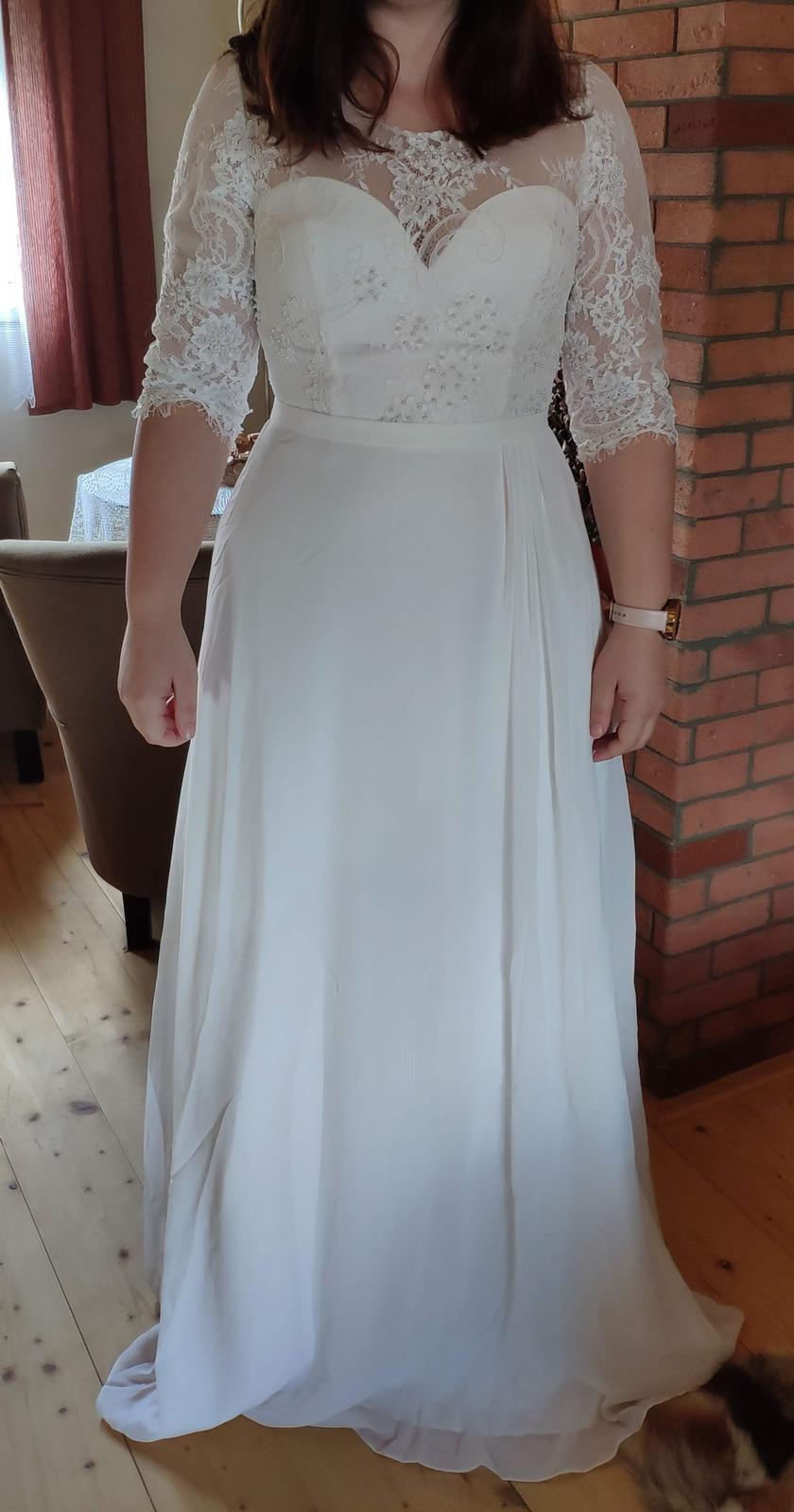 Svatební šaty, vel. 40, slonová kost - Obrázek č. 1
