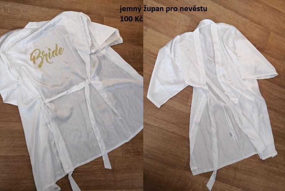 Jemná noční košilka - župan pro nevěstu - Obrázek č. 1
