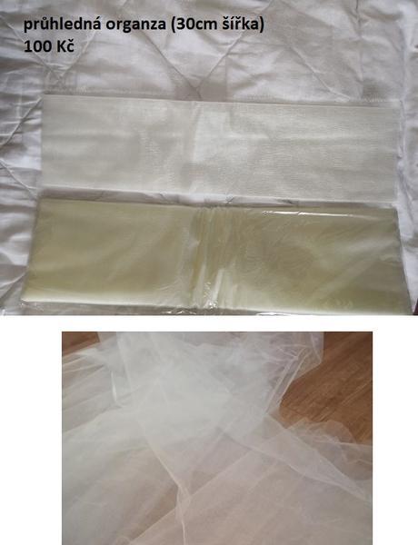 Světlá organza - krémová organza - Obrázek č. 1