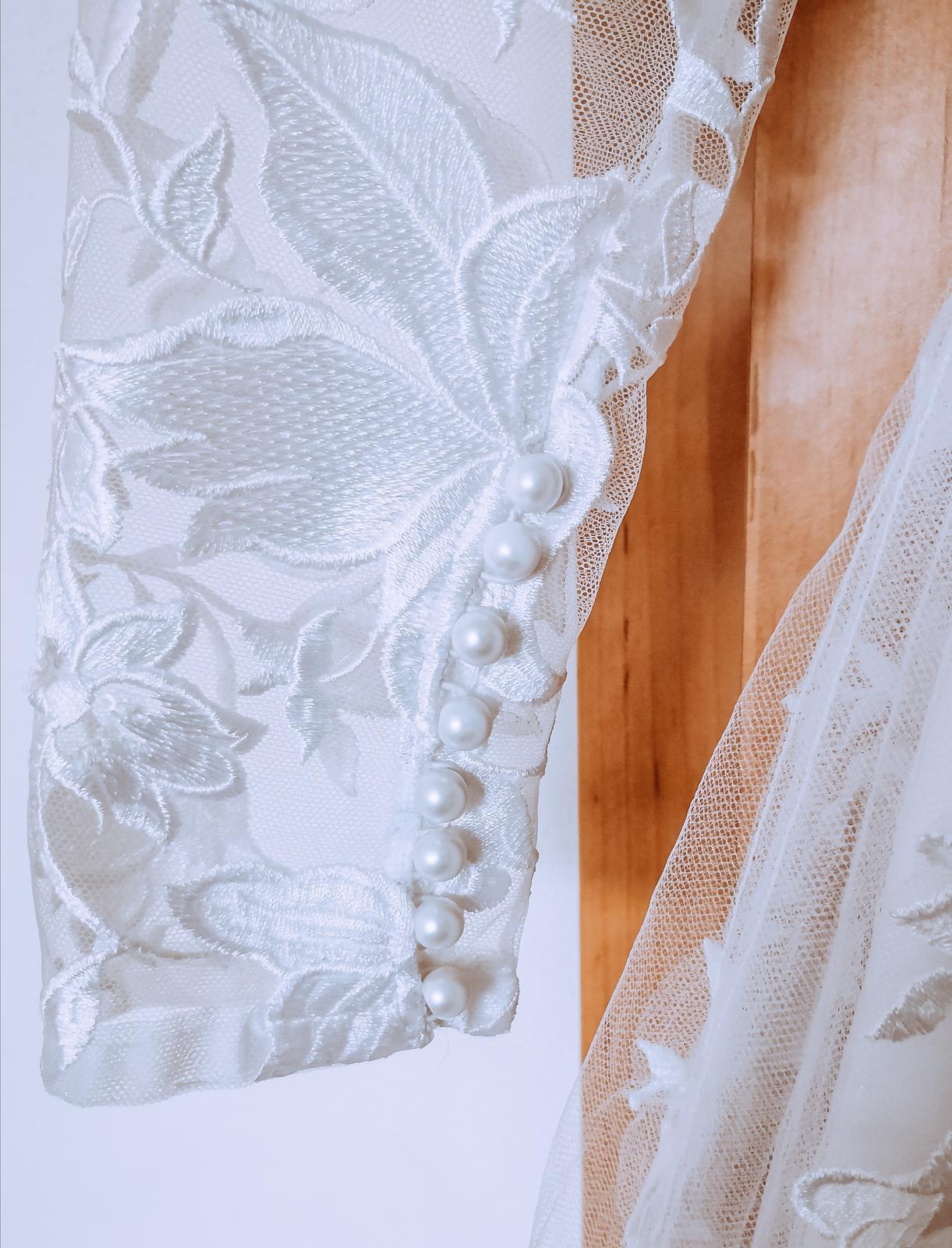 REZERVACE Svatební šaty - krajka, perličkY - Obrázek č. 3