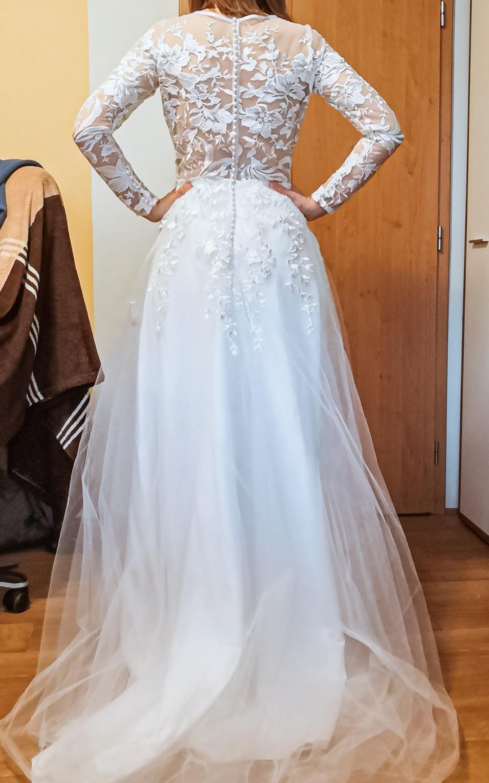 REZERVACE Svatební šaty - krajka, perličkY - Obrázek č. 4