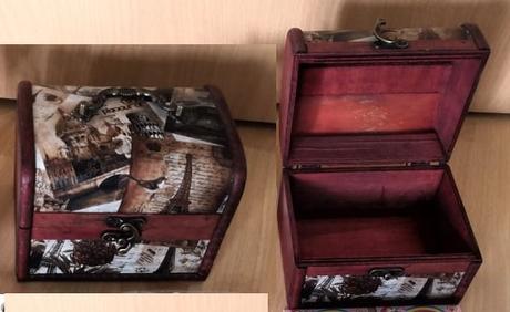 Dřevěná dekorační truhlička - Obrázek č. 1