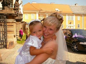 nevěsta a holčička mojí kamarádky, taky jako princezna :-)