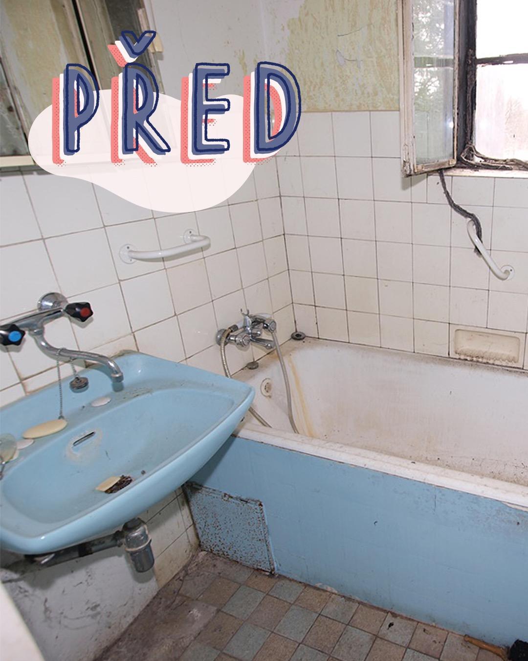 Koupelna PŘED & PO Tak tahle proměna koupelny nás dostala do kolen 👏 Petra ji navíc se svou rodinou zvládla svépomocí. Smekáme!  Na 🛁 https://biano.link/koupelna-pred-a-po najdete další tipy a inspirace, jak na koupelnu v podobném, venkovském stylu. - Obrázek č. 1