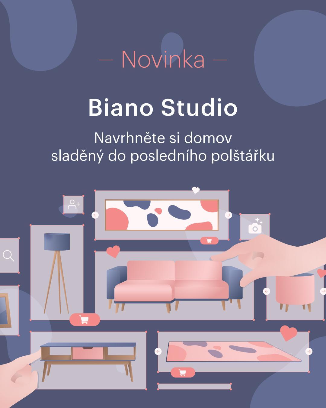 NOVINKA 🆕 Spouštíme Biano Studio 🎉 Navrhněte si pokoj online v našem novém plánovači interiérů.  ✔ Vyberte a kombinujte různé kusy nábytku a dekorací a vyzkoušejte, zda k sobě ladí x neladí. Online a zdarma. ✔ Vytvořte si vlastní projekt na 👉 https://studio.biano.cz/ 👈 ✔ Inspirujte se a sdílejte svůj návrh se svými blízkými nebo komunitou milovníků bydlení.  Zkuste to na 👉 www.biano.cz 👈 - Obrázek č. 1