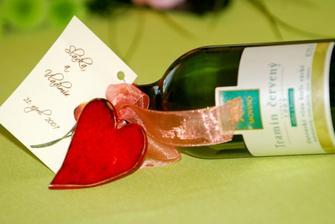 darček pre hostí a vínko do výslužky