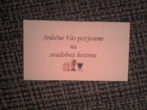 pozvanie k svadobnemu stolu