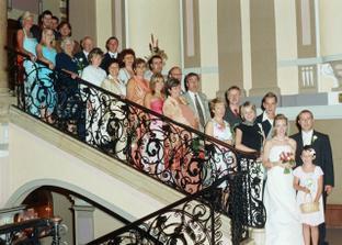 tradiční fotka na schodech