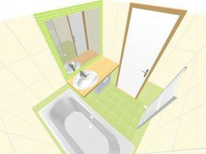 návrh koupelny.... zpracováno před půl rokem ... bude změna: jiné barevné provedení
