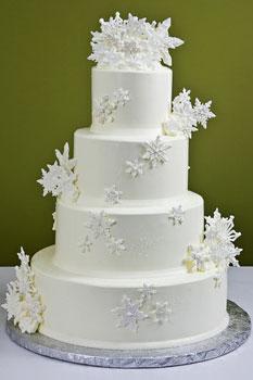 Naše zimní pohádka.... - sněhový dort=)