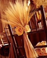svadba bude v jeseni, krasna vyzdoba stoliciek na taky cas