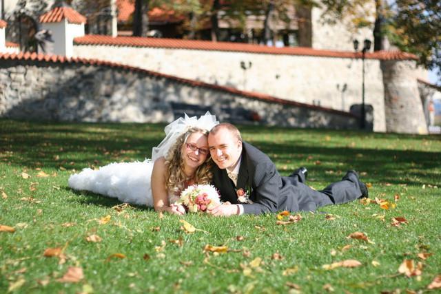 Romantika v trávě.