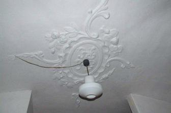 sál, strop původně