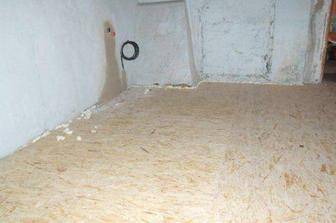 základ nové podlahy v hale