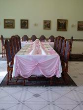 celkový pohled na svatební tabuli
